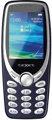 """Телефон Texet TM-303 синий 2.4"""" 32 Мб"""