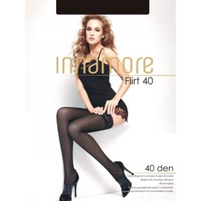 Innamore Чулки Flirt 40 размер 3 Nero цены онлайн