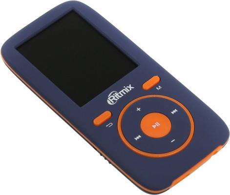 Плеер Ritmix RF-4450 4Gb синий оранжевый ritmix rf 4150 4gb black mp3 плеер