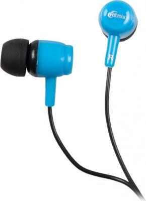 Наушники Ritmix RH-020 черный синий аудио наушники ritmix гарнитуры ritmix rh 565m gaming
