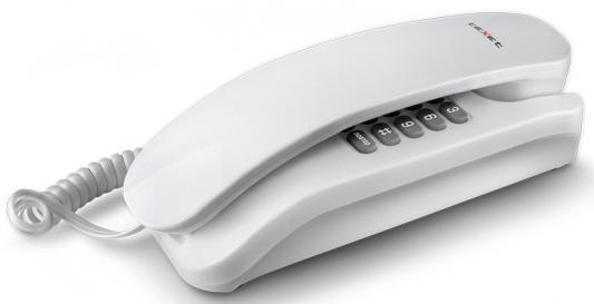 Телефон проводной Texet TX-215 белый телефон проводной texet tx 212 серый