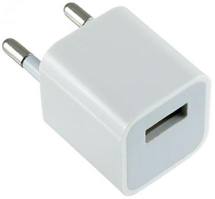 Сетевое зарядное устройство Perfeo I4607 USB 1A белый сетевое зарядное устройство apple usb мощностью 5 вт md813zm a