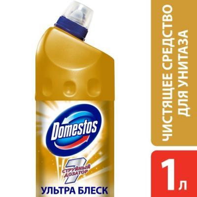 DOMESTOS Средство чистящее для унитаза Ультра Блеск 1л средство чистящее domestos лимонная свежесть 1000мл