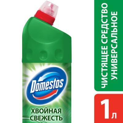 DOMESTOS Средство универсальное чистящее Хвойная свежесть 1л средство чистящее domestos свежесть лаванды универс 24часа 1л