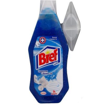 BREF Гель-блок подвесной для унитаза Волна свежести 360мл чистящее средство для унитаза bref сила актив с хлор компонентом 50г