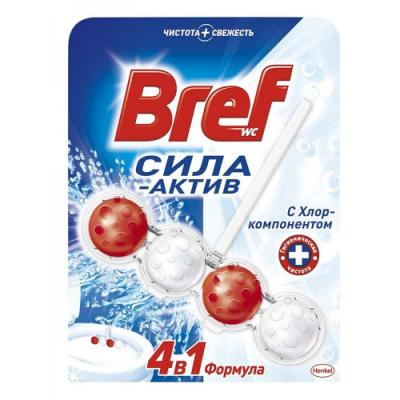 BREF Чистящее средство для унитаза Сила Актив Хлор 50г чистящее средство для унитаза bref сила актив хлор 50г