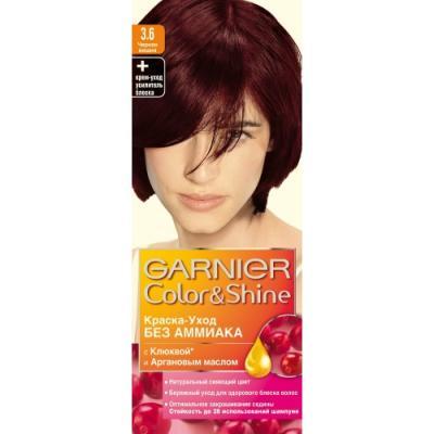 GARNIER Краска для волос COLOR&SHINE 3.6 Черная Вишня краска mastergood эластичная резиновая вишня 2 4кг