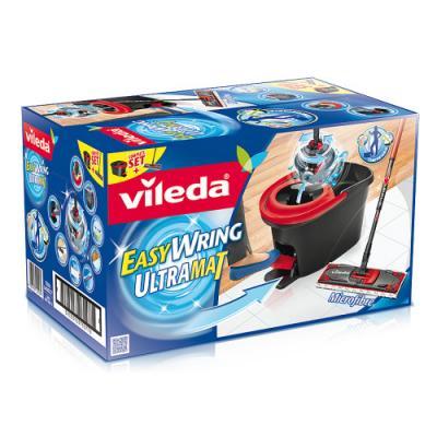 ВИЛЕДА Набор Ультрамат Изи Вринг в коробке Швабра с телескопической ручкой ведро педальным отжимом