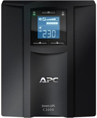 ИБП APC Smart-UPS C SMC2000I-RS 2000VA Черный ибп apc smart smc2000i 2u 2000va черный