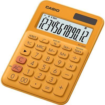 Калькулятор настольный CASIO MS-20UC-RG-S-EC 12-разрядный оранжевый