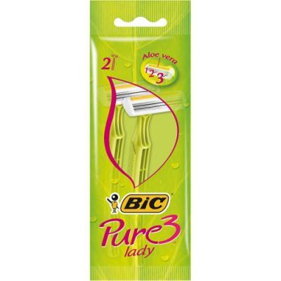 Бритвенный станок BIC Pure3 Lady 2 бритвенный станок bic sensitive 5