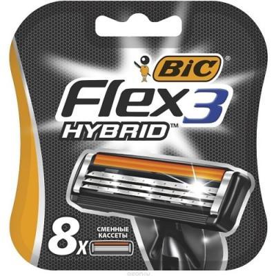Сменная кассета BIC Flex 3 Hybrid 8 сменная кассета bic chrome platinum 100