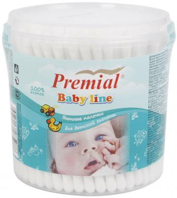 Ватные палочки Premial Для детей цилиндр гипоаллергенные 200 шт косметические ватные диски premial для детей овал гипоаллергенные 40 шт