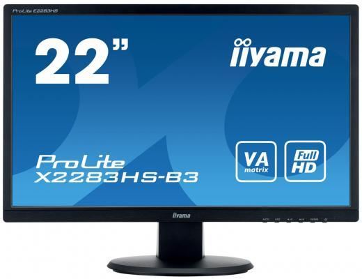 Монитор 22 iiYama X2283HS-B3 монитор iiyama xb2483hsu b3