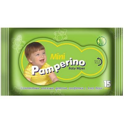 Салфетки влажные PAMPERINO 48204 не содержит спирта 15 шт