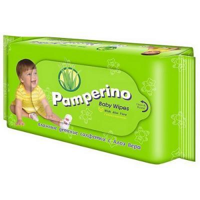 PAMPERINO Салфетки влажные детские с Алоэ вера 80шт абена abena влажные салфетки 20х27 80шт