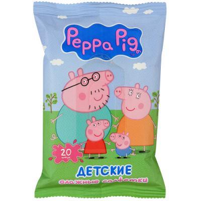 Салфетки влажные Авангард Peppa Pig не содержит спирта ароматизированная влажная 20 шт 4620016300381 peppa pig транспорт 01565