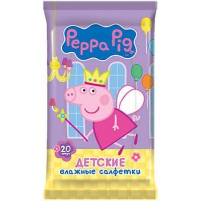 Салфетки влажные Peppa Pig Peppa Pig не содержит спирта влажная 20 шт 30161 peppa s washing day