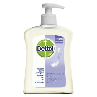 DETTOL Антибакт.жидк. мыло для рук для чувствительной кожи с глицерином 250 мл dettol антибактериальное жидкое мыло для диспенсера no touch с ароматом зеленого чая и имбиря запасной блок 250 мл запасной блок