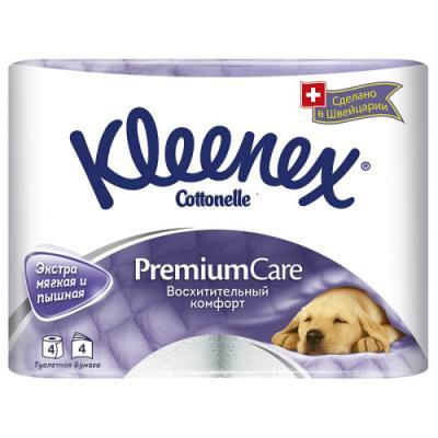 Бумага туалетная Kleenex Премиум Комфорт растворяются в воде 4-ех слойная 4 шт 4284155 туалетная бумага kleenex туалетная бумага премиум комфорт 4 слоя 4шт