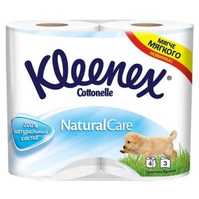 Бумага туалетная Kleenex Natural Care растворяются в воде 3-ех слойная 4 шт 9450288