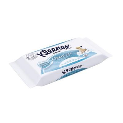 Влажная туалетная бумага Kleenex CleanCare влажная гипоаллергенные 42 шт 9440080 fria влажная туалетная бумага umidificata sensitive care био разлогаемая 12 шт уп