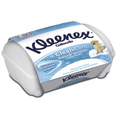 Влажная туалетная бумага Kleenex CleanCare влажная гипоаллергенные 42 шт 9440090 fria влажная туалетная бумага umidificata sensitive care био разлогаемая 12 шт уп