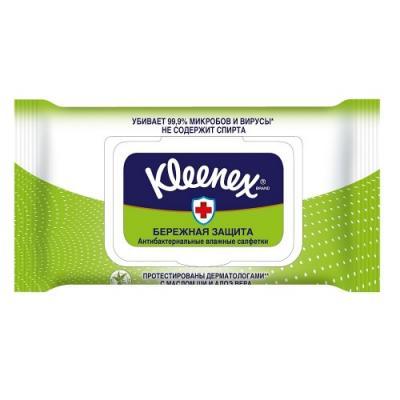 Салфетки влажные Kleenex Антибактриальные влажная гипоаллергенные 40 шт 9440102 салфетки влажные авангард 48107 15 шт влажная