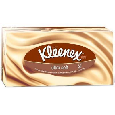 Салфетки Kleenex Ultrasoft 3-ех слойная 56 шт 3213365