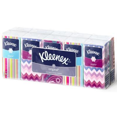Платочки носовые Kleenex ORIGINAL 3-ех слойная 10 шт 9470110