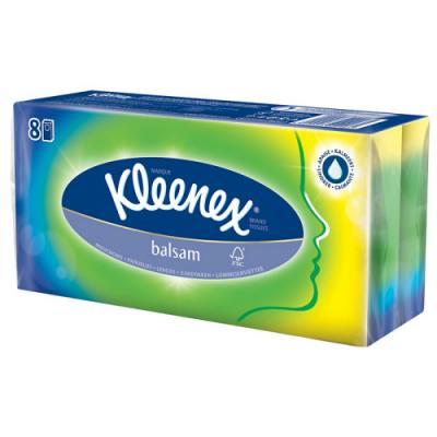 Платочки носовые Kleenex Balsam ароматизированная гипоаллергенные 3-ех слойная 9 шт 3698215