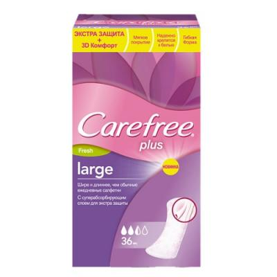 Салфетки Carefree plus Large Fresh ароматизированная 36 шт 80173