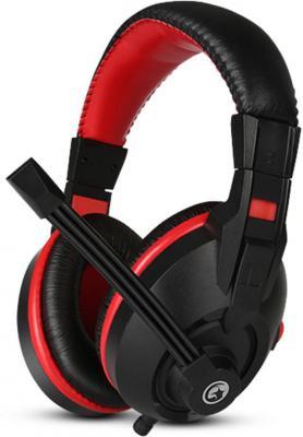 Игровая гарнитура проводная Marvo H8321 черный красный цена и фото