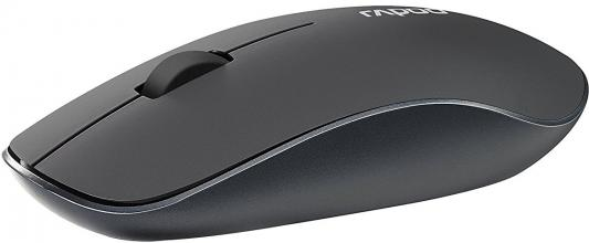 Мышь беспроводная Rapoo 3510 серый USB 16978 rapoo черный беспроводная