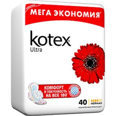 Kotex Прокладки гигиенические Ультра Нормал 40шт от 123.ru