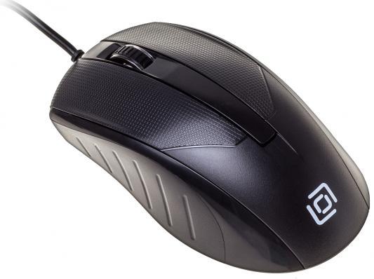 Мышь проводная Oklick 315M чёрный USB цена и фото