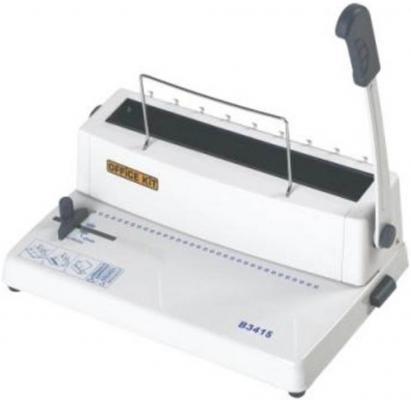 Переплетчик Office Kit B3415 A4 перфорирует 15 листов сшивает 120 листов металлические пружины 5.5-14.5мм переплетчик gbc combbind 100 a4 перфорирует 9 листов сшивает 160 листов пластиковые пружины 6 19мм 4