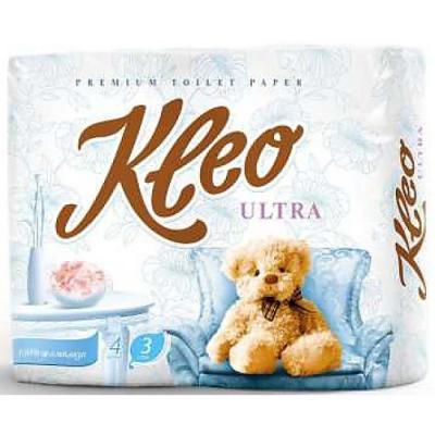Бумага туалетная Мягкий Знак Kleo Ultra 3-ех слойная без отдушки 8 шт