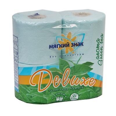 Бумага туалетная Мягкий Знак Deluxe Aroma 2-ух слойная ароматизированная 4 шт бумага туалетная мягкий знак буквы 4 шт 2 ух слойная без отдушки