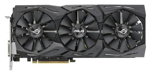 Видеокарта 11264Mb ASUS GeForce GTX1080 TI PCI-E 352bit GDDR5X DVI HDMI DP HDCP ROG-STRIX-GTX1080TI-11G-GAMING Retail видеокарта asus rog strix rx570 o4g gaming rx 570 4гб gddr5 retail
