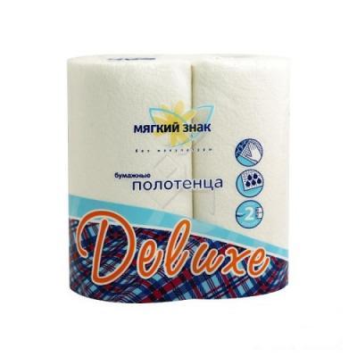 Полотенца бумажные Мягкий Знак Deluxe 2-ух слойная 2 шт
