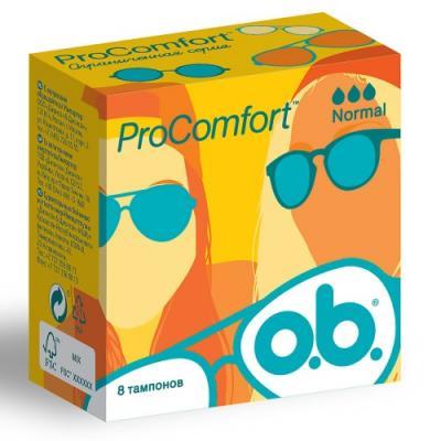 """Тампоны o.b. """"ProComfort нормал"""" 8 шт 38537 тампоны ов procomfort нормал 8шт"""