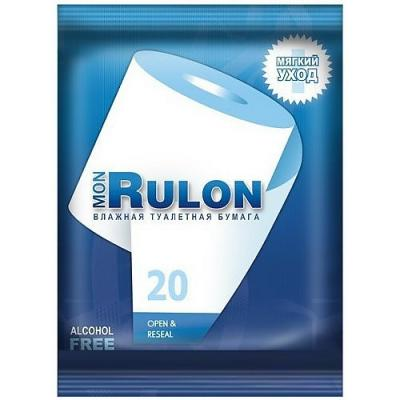 Влажная туалетная бумага Mon Rulon ароматизированная не содержит спирта  гипоаллергенные 20 шт