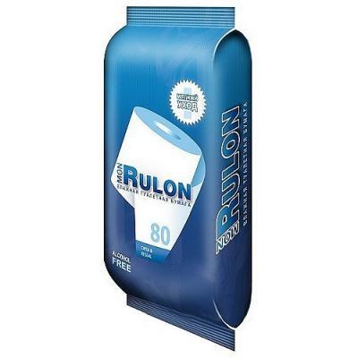 Влажная туалетная бумага Mon Rulon не содержит спирта гипоаллергенные  80 шт