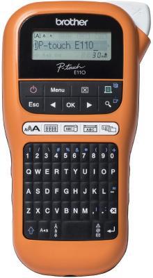 Принтер для печати наклеек Brother P-touch PT-E110VP оранжевый/черный принтер этикеток brother p touch pt d600vp стационарный черный серый ptd600vpr1