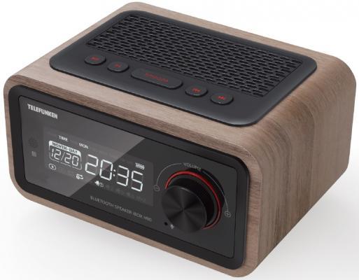 Радиобудильник Telefunken TF-1582UB темное дерево радиобудильник uniel utp 49ykx