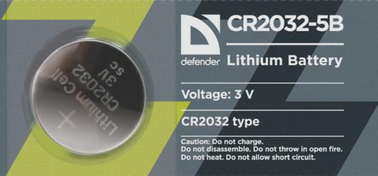 Батарейки Defender 56201 CR2032 5 шт