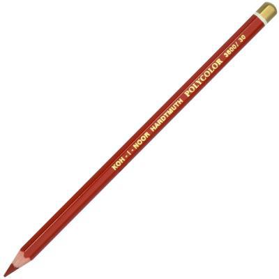 Карандаш художественный POLYCOLOR, красно-коричневая карандаши восковые мелки пастель koh i noor карандаш двухцветный красно синий