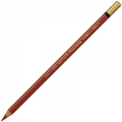Карандаш цветной Koh-i-Noor MONDELUZ, красно-коричневый 175 мм акварельные 3720/30 карандаши восковые мелки пастель koh i noor карандаш двухцветный красно синий