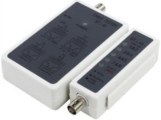 Тестер кабелей Telecom ST-45 RJ45/BNC
